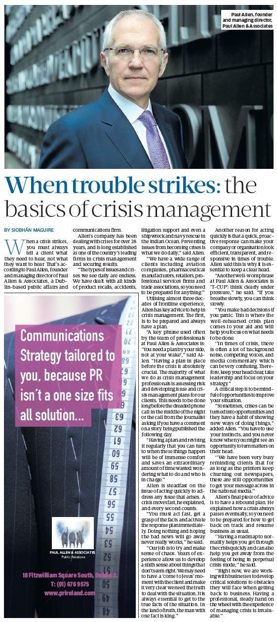 SBP - Crisis Management